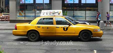 tertiary sector taxi driver