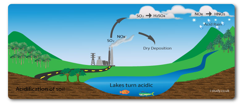 causes and intervention for acid rain What is acid rain and what causes it acid rain is a broad term used to describe several ways that acids fall out of the atmosphere a more precise term is acid deposition, which has two parts: wet and dry.